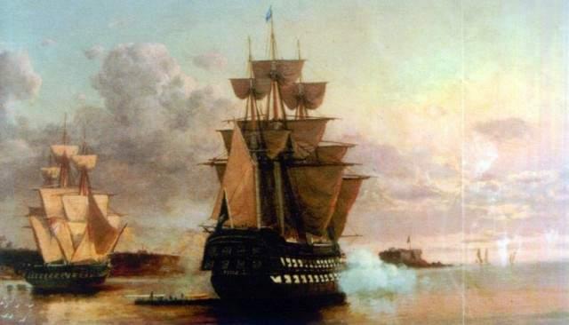 Brazilian warship Pedro I in the 1820s