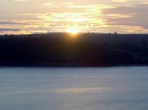 Sunset over Llansteffan