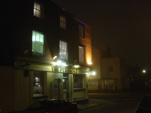 The Pembroke on a foggy night. Just imagine a press gang coming round the corner...