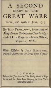The title page of the second volume by 'Samuel Pepys Junior'