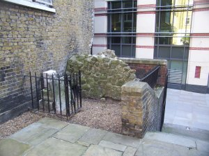 The tiny sutviving fragment of St Ann's church, Blackfriars